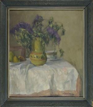 Olgierd Bierwiaczonek (1925-2002), Martwa natura z kwiatami i owocami