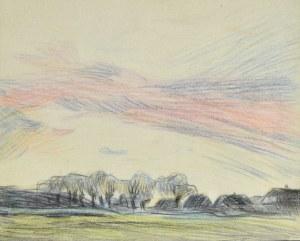 Stanisław Kamocki (1875-1944), Widok na wieś o zachodzie słońca, ok. 1910