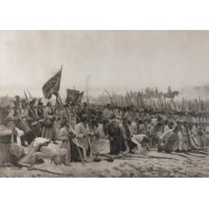 Józef CHEŁMOŃSKI (1849-1914), Modlitwa [Przed bitwą pod Racławicami], 1909