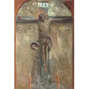 Michał ICHNOWSKI (1857-1915), Ukrzyżowany [Rzeźba Wita Stwosza z kościoła Mariackiego w Krakowie], 1909