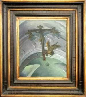 Ferdynand RUSZCZYC (1870-1936), Krzyż pod sklepieniem kościoła w Tyńcu, 1908
