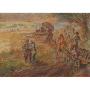 Karol STOBIECKI (1908-1970), Jadą wozy