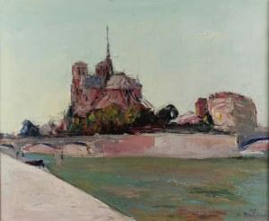 Włodzimierz TERLIKOWSKI (1873-1951), Widok na Ile de la Cité w Paryżu,1929