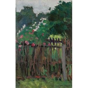 Henryk UZIEMBŁO (1879-1949), Ukwiecone ogrodzenie