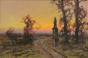 Wiktor KORECKI (1890-1980), Przydrożna kapliczka
