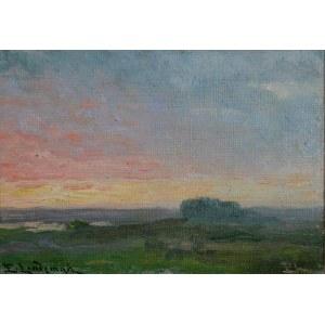 Emil LINDEMAN (1864-1945), Pejzaż o zmierzchu
