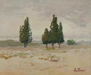 Iwan TRUSZ (1869-1940), Pejzaż z cyprysami