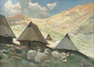 Michał STAŃKO (1901-1969), Owce na hali, 1937