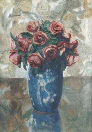 Teodor GROTT (1884-1972), Róże w wazonie, 1946
