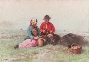 Adam SETKOWICZ (1876-1945), Na łące