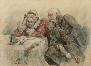 Elwiro Michał ANDRIOLLI (1836-1893), Pasjans, 1875