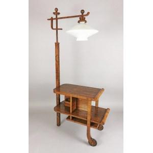 Lampa ze stolikiem art déco