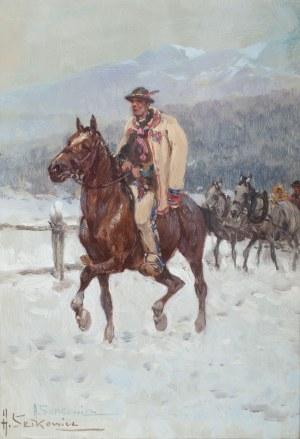 Adam Setkowicz (1875 Kraków - 1945 tamże), Góral na tle Tatr