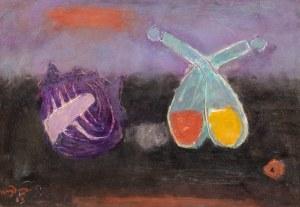 Henryk Hayden (1883 Warszawa - 1970 Paryż), Martwa natura z muszlą i ampułkami, 1963