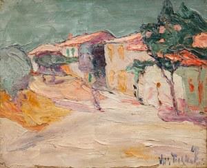 Włodzimierz Terlikowski (1873 wieś pod Warszawą - 1951 Paryż), Pejzaż z willą, 1918 r.