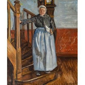 Nathan Grunsweigh (1883 Kraków - 1956 Paryż), Starsza kobieta z gazetą