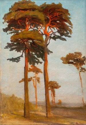 Iwan Trusz (1869 Wysocko - 1940 Lwów), Sosny