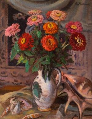 Ignacy Pieńkowski (1877 Dołubów - 1948 Kraków), Cynie w wazonie
