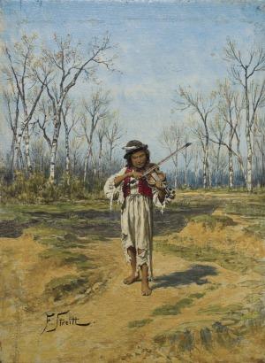 Streitt Franciszek, MŁODY SKRZYPEK, ok. 1880