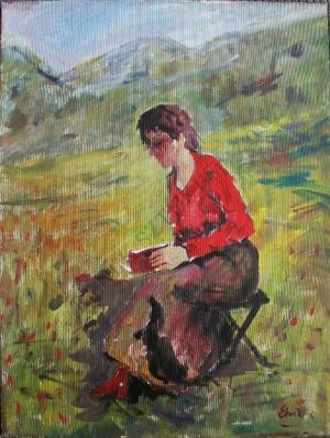 Eugeniusz Eibisch (1896-1987), Czytająca dziewczyna
