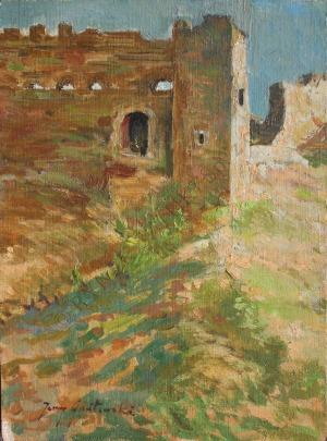 Jerzy Gnatowski (1928-2012), Ruiny zamku w Janowcu