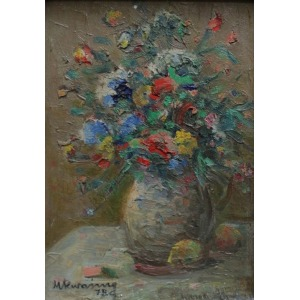 Michał Kwaśny (1818-1997), Kwiaty w wazonie (1978)