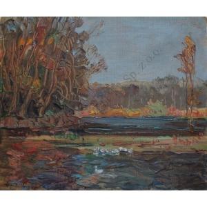 Alfred Józef Sipiński (1886-1968), Widok z Wilanowa (1924)