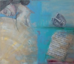 Karina Góra, Adagio, 2020r., akryl na płótnie, 70 x 80cm, sygn.p.d