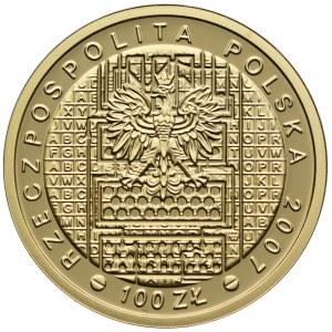 100 złotych 2007, 75. Rocznica Złamania Szyfry Enigmy