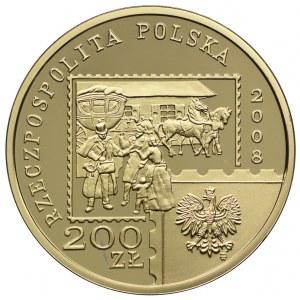 200 złotych 2008, 450 Lat Poczty Polskiej