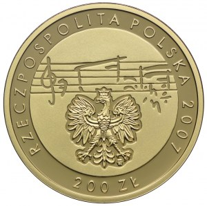 200 złotych 2007, 125. Rocznica Urodzin Karola Szymanowskiego