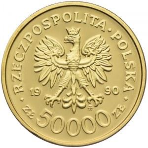50000 złotych 1990, Solidarność 1980 - 1990