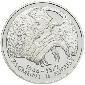 10 złotych 1996, Zygmunt II August, popiersie