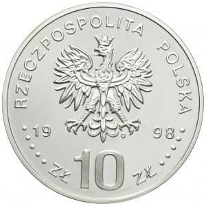 10 złotych 1998, Zygmunt III Waza, popiersie