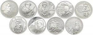 Zestaw monet, 10 złotych 1999 (9 szt.)