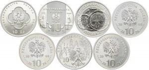 Zestaw monet, 10 złotych 2000 (7 szt.)
