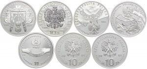 Zestaw monet, 10 złotych 2001 (7 szt.)