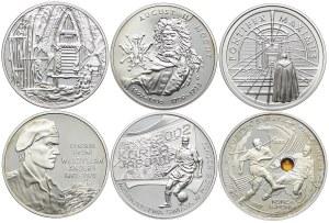 Zestaw monet, 10 złotych 2002 (6 szt.)