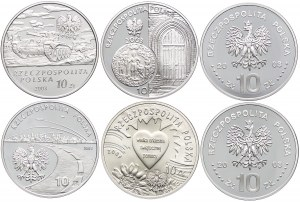 Zestaw monet, 10 złotych 2003 (6 szt.)