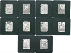Zestaw monet, 10 złotych, Historia Jazdy Polskiej 2006-2011 (10 szt.)
