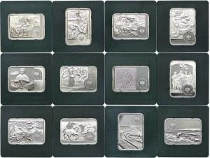 Zestaw monet, 20 złotych 2002-2015 Malarze (12 szt.)
