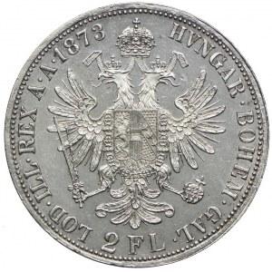 Austria, Franciszek Józef I, 2 floreny 1873, Wiedeń