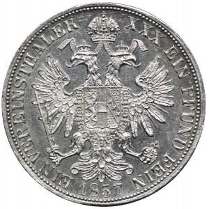 Austria, Franciszek Józef I, talar 1857 A, Wiedeń