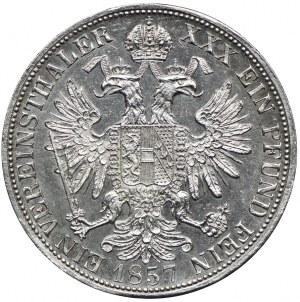 Austria, Franciszek Józef I, 1 talar 1857 A, Wiedeń
