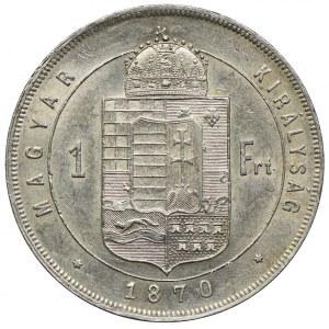 Węgry, Franciszek Józef I, 1 forint 1870 KB, Kremnica