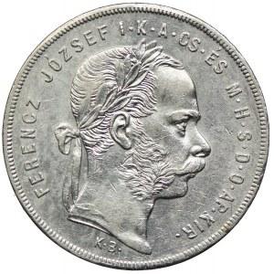 Węgry, Franciszek Józef I, 1 forint 1872 KB, Kremnica