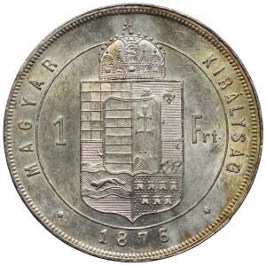 Węgry, Franciszek Józef I, 1 forint 1876 KB, Kremnica