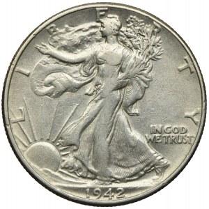 USA, 1/2 dolara 1942, Filadelfia