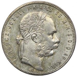 Węgry, Franciszek Józef I, 1 forint 1880 KB, Kremnica