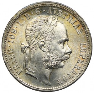 Austria, Franciszek Józef I, 1 floren 1877, Wiedeń